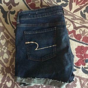 NWOT AE Midi Denim Shorts